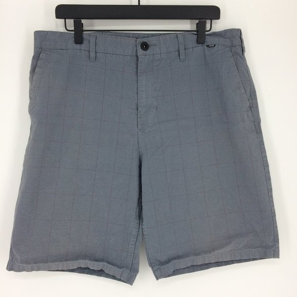 Hurley Other - Hurley Striped Gray Surf Boardshorts Mens 36